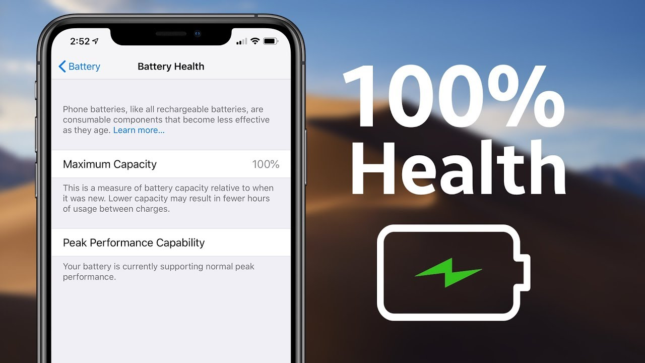 How I Keep My Battery Health At 100% - iPhone XS Max