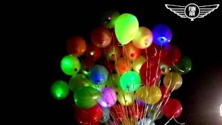 Запуск светящихся шаров на свадьбе и дне рождения.