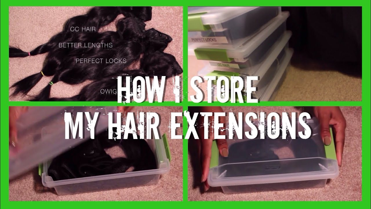 211 How I Store My Hair Extensions Youtube