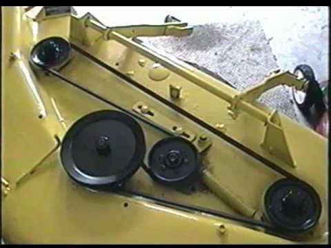 John Deere 316 Tractor Mowing Deck Belt Configuration - YouTube
