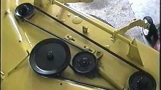 John Deere 316 Tractor Mowing Deck Belt Configuration