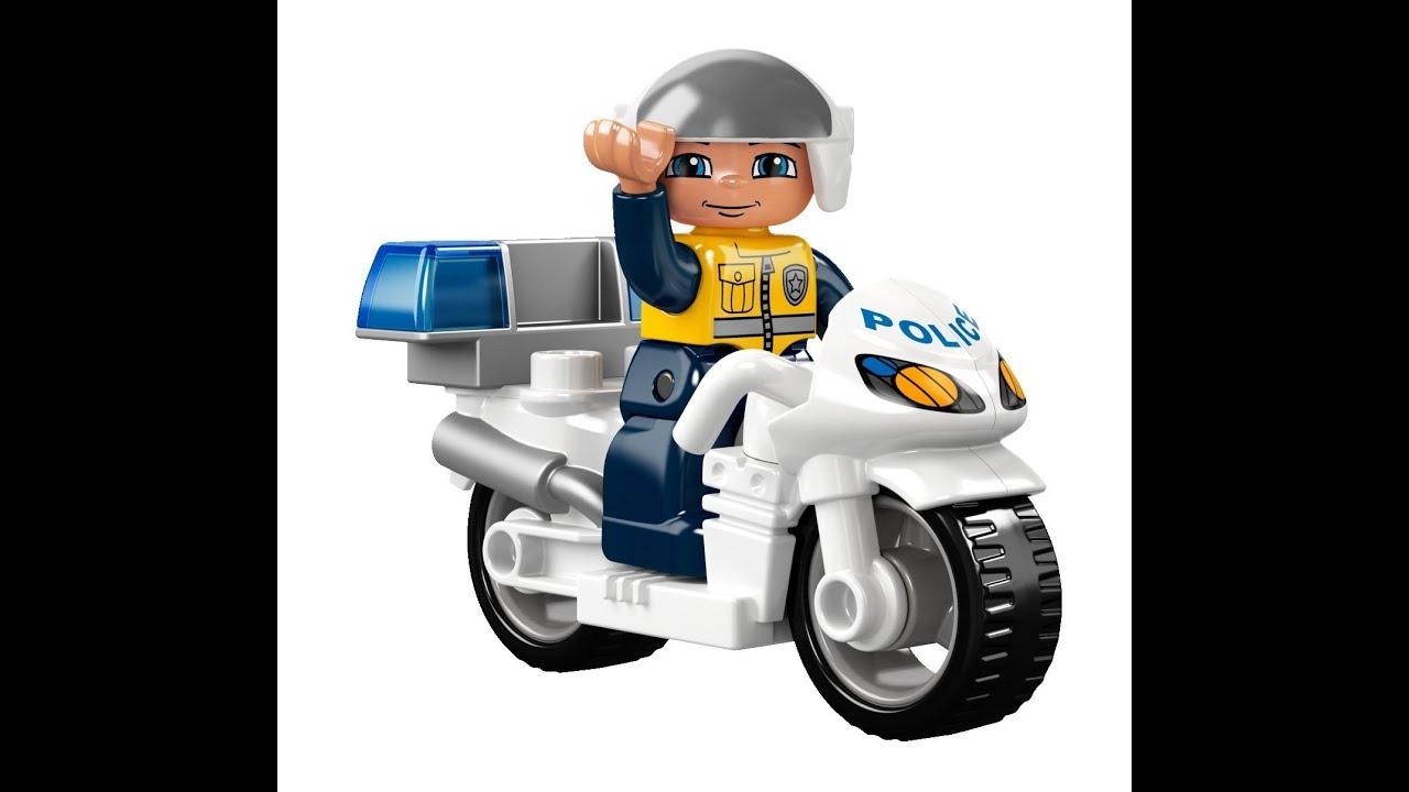 lego duplo la moto de police jouet pour les enfants youtube. Black Bedroom Furniture Sets. Home Design Ideas