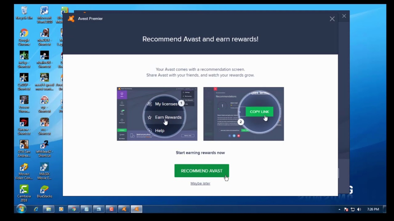 Avast premier 2019 19.6.2383 unlimited 47 years activation