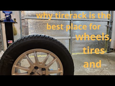 wheel and tire fitment with tire rack