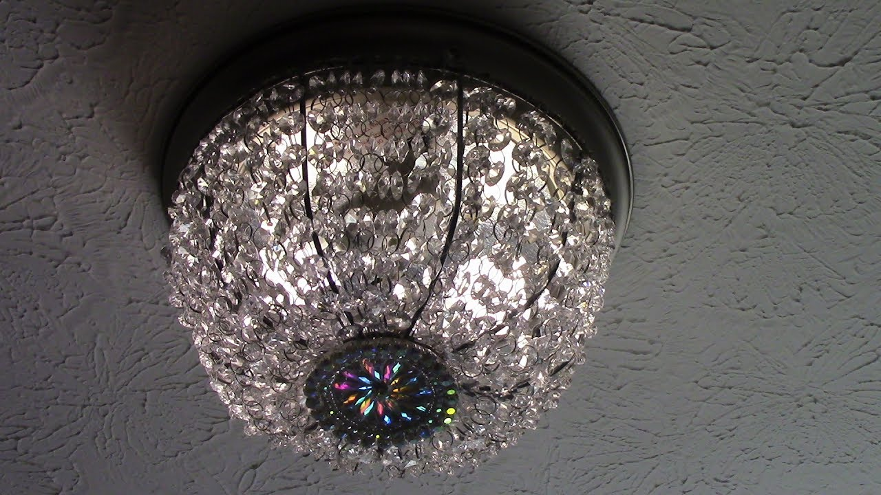 Diy Dollar Tree Crystal Basket Flush Mount Ceiling Light