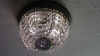 DIY Dollar Tree Crystal Basket Flush Mount Ceiling Light