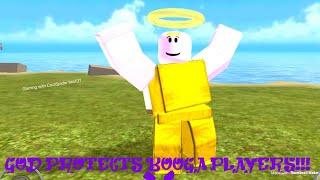 ROBLOX booga booga | DEUS PROTEGE OS JOGADORES BOOGA!!! (DISFARCE TROLLING)