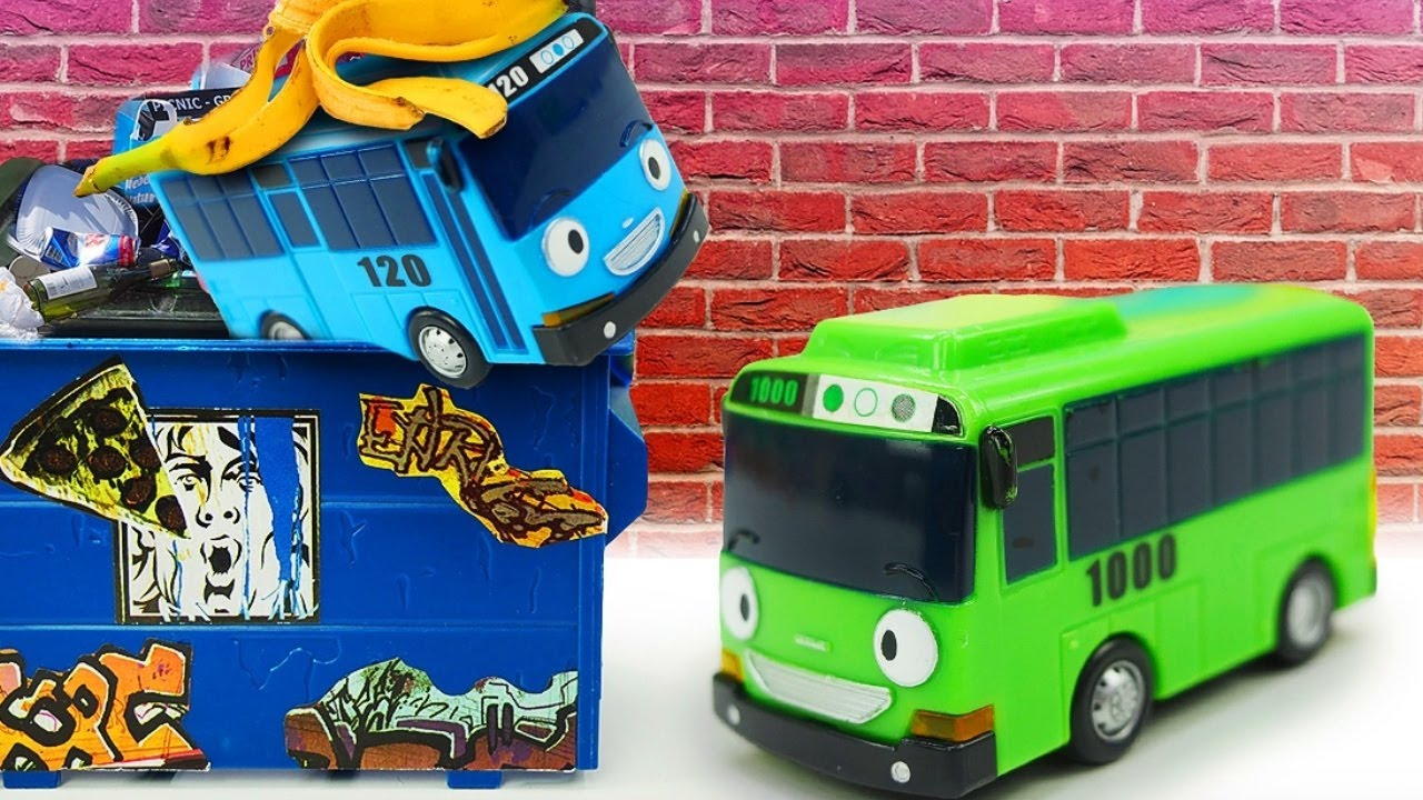 Car cartoons for kids & videos for toddlers - Tayo the little bus toys.