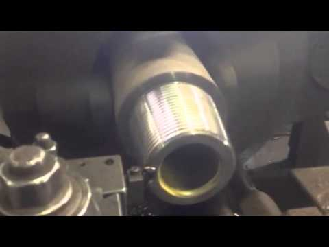 A closer look at Threading a drill pipe