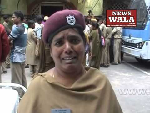 Police Home guards protested at South Zone DCP office -- crying for justice