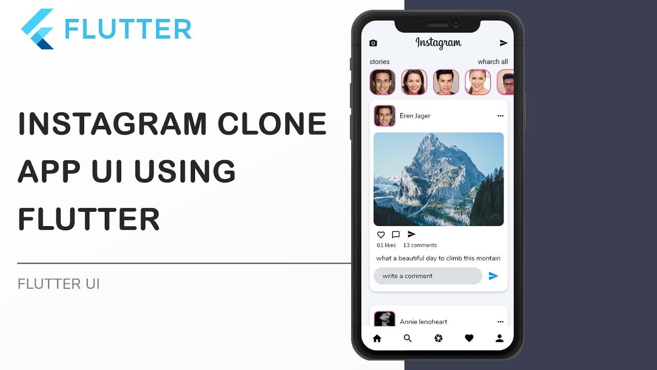 Flutter Instagram Clone App UI - Speed Code