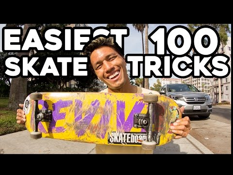 FIRST 100 SKATEBOARD TRICKS EVERYONE SHOULD LEARN!