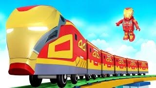 Super Hero Cartoon | Iran Man Cartoon train for Children Fun - Toy Factory