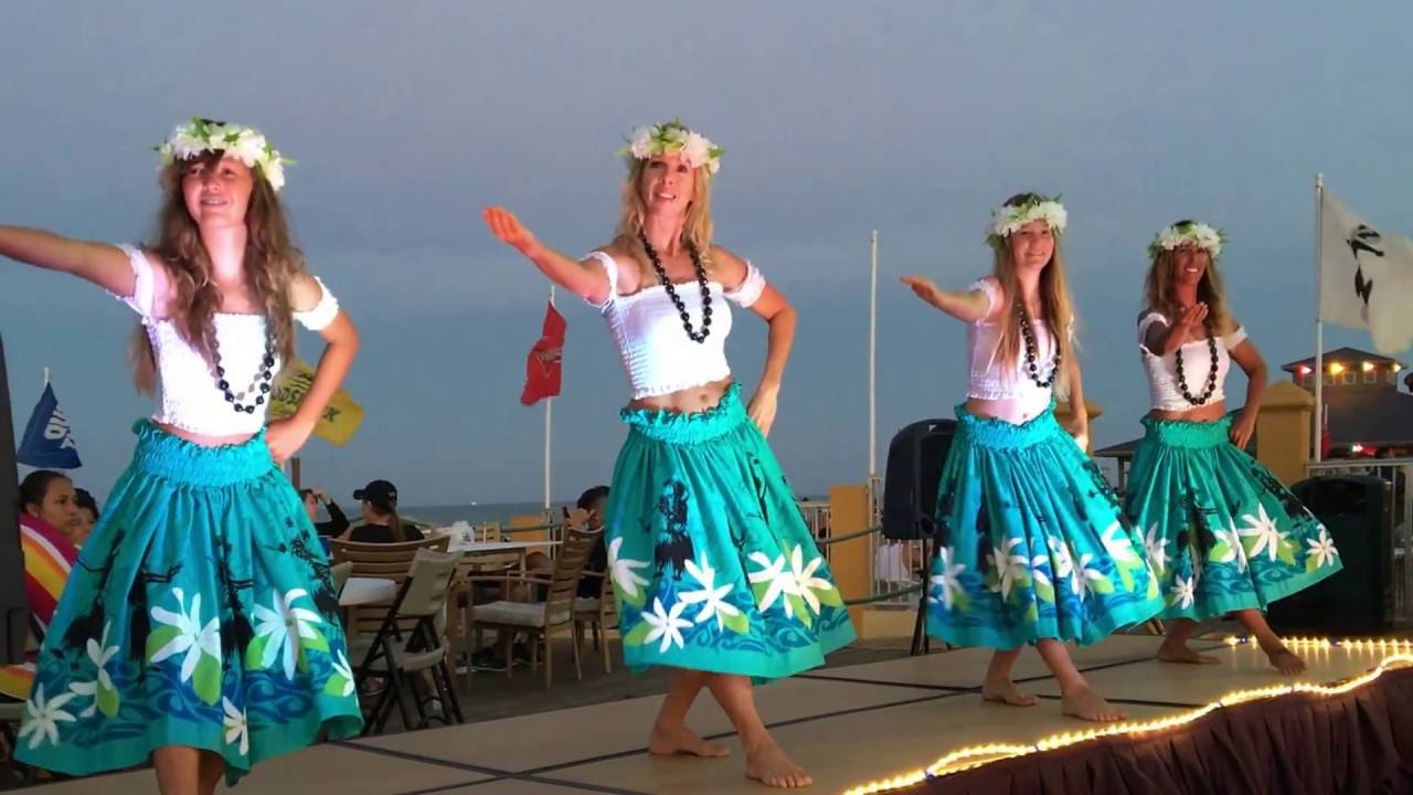 mother and daughters hula south padre island youtube