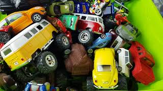 Box full of cars toys video for kids