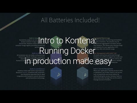 Intro to Kontena: Running Docker in production made easy