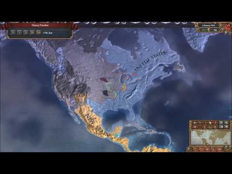 EU4 13 Colonies into USA Timelapse (1626 Start)