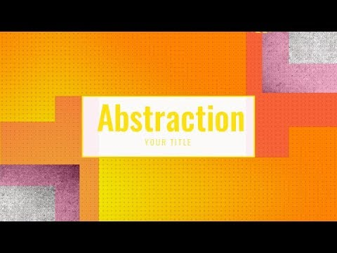 Abstraction intro videos maker - how to make a video intro online - intro maker