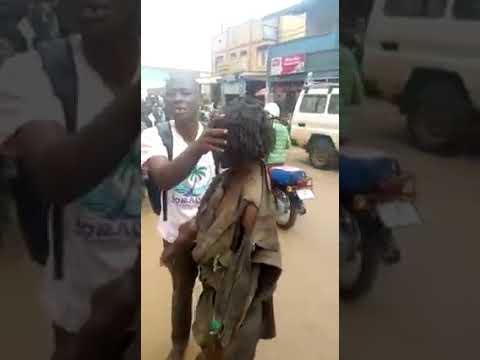 Street preacher roughs up mad man, prays for him till he heals