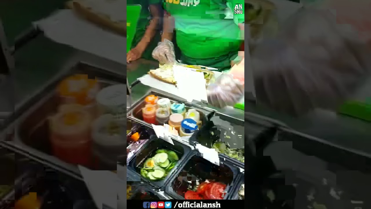Veggie Delite and Hara Bhara Kebab Sub of Subway