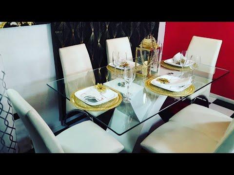 DIY 💛💛Como arreglar una mesa con glamour en color dorado/GOLD GLAMOURS TABLE
