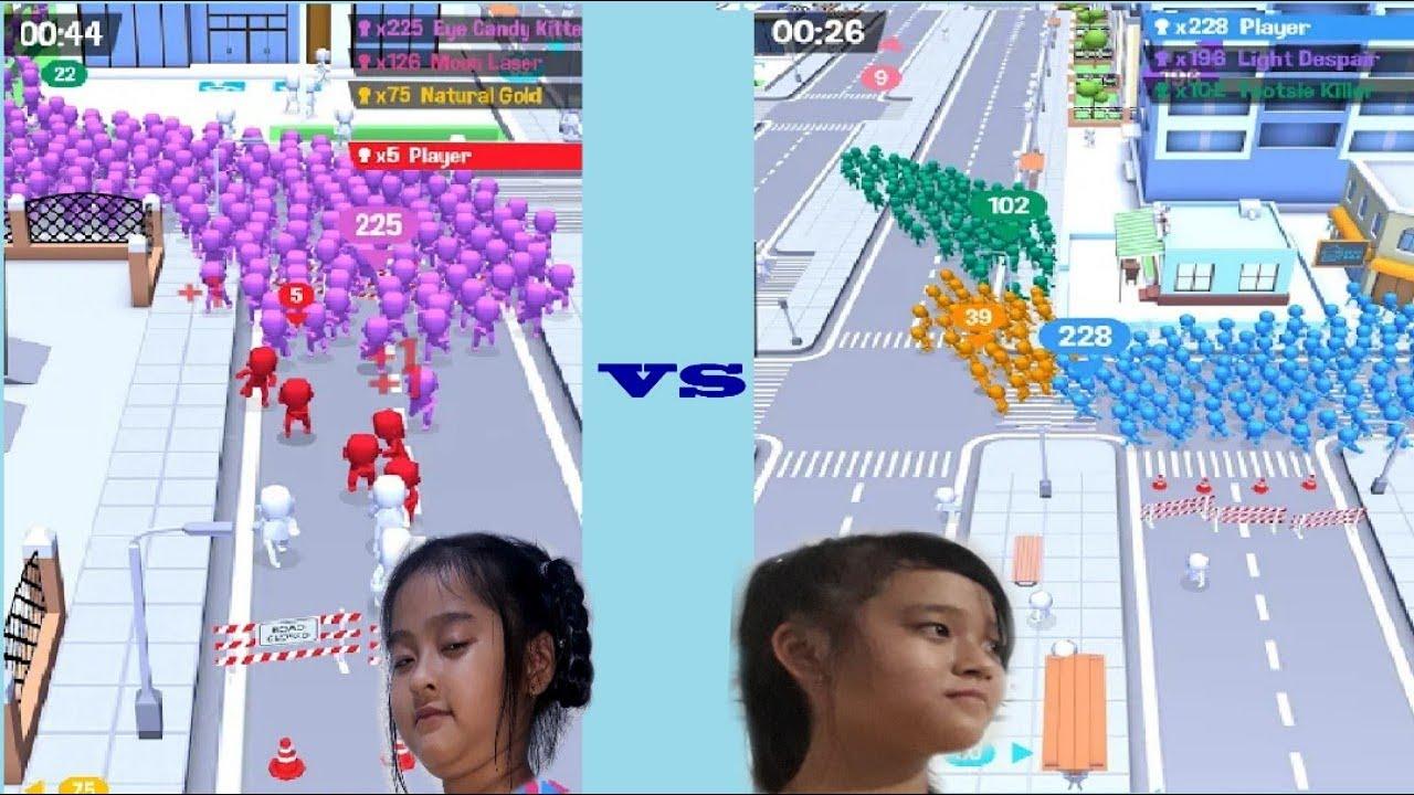 Game vui  | Crowd City | Những trận chiến không cân sức giữ quân đoàn Hiền VS với quân đoàn Nhi
