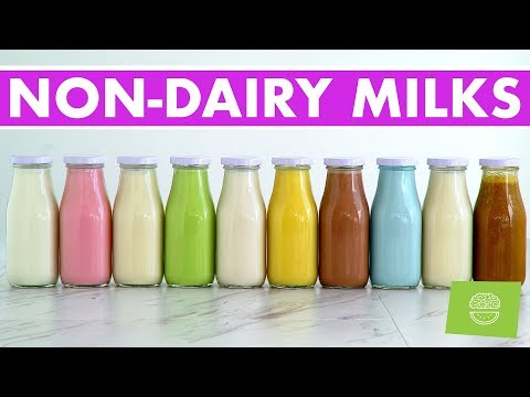 10 Homemade Nut & Non-Dairy Milks, Vegan Recipes + FREE EBOOK!