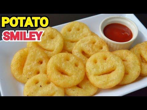 CRISPY POTATO SMILEY KIDS LUNCH BOX RECIPE By (YES I CAN COOK) #Potato #Fries #PotatoSmiley