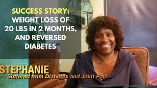 Success: Weight Loss of 20 Lbs in 2 Months, and Reversed Diabetes
