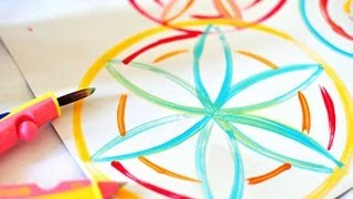 How to draw flowers using a compass