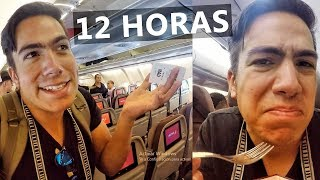 Qué tan malo es un vuelo de 12h en CLASE TURISTA