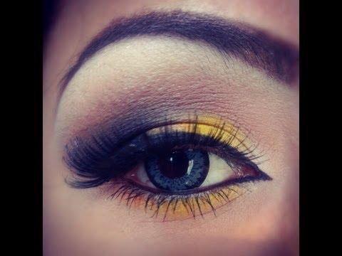 maquillaje amarillo