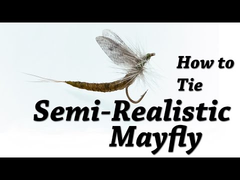 Semi Realistic Mayfly | Fly Tying for Trout