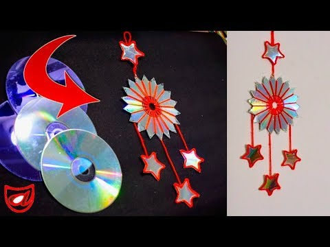 Waste CD reuse Idea !! Wall Hanging decoration