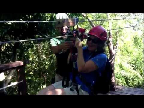 Zipline in San Juan, Puerto Rico at Ecoquest Zipline Adventure