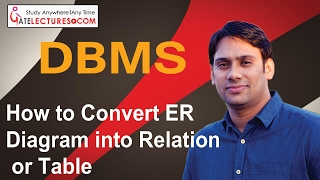 13 How to Convert ER Diagram into Relation or Table