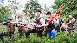 LTT Nerf War : SEAL X Warriors Nerf Guns Fight Criminal Group Knight Guard Nerf Guns