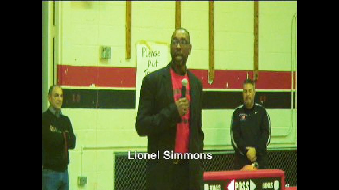 Lionel Simmons Southern High Jersey Retired