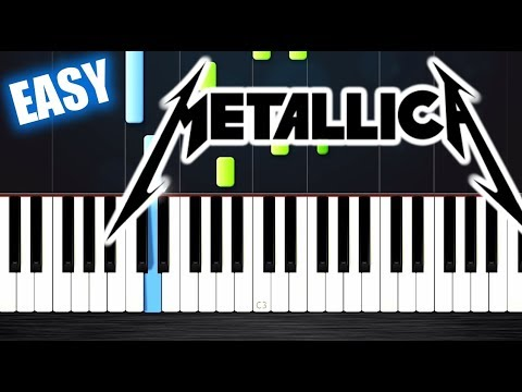 Metallica  Nothing Else Matters  EASY Piano Tutorial  PlutaX