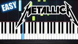 Download Metallica - Nothing Else Matters - EASY Piano Tutorial by PlutaX Mp3 and Videos