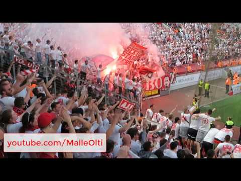 Stimmung der Kölner Fans beim Derby Leverkusen - 1. FC Köln 2:2 (0:1) 13.05.2017 Ultras Effzeh