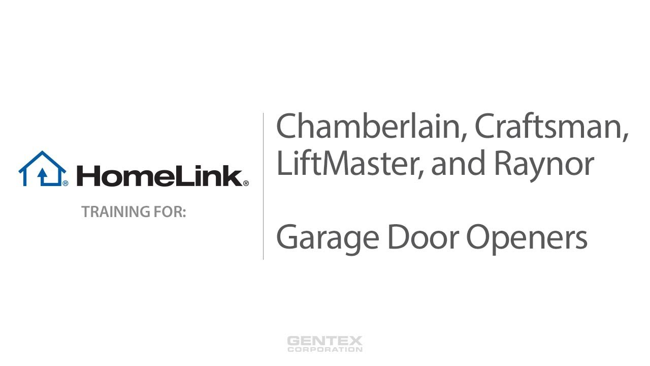 Homelink Training For Chamberlain Garage Door Openers Youtube