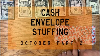 Cash Envelope Stuffing | October Checks #2 (combined incomes) | BudgetWithBri