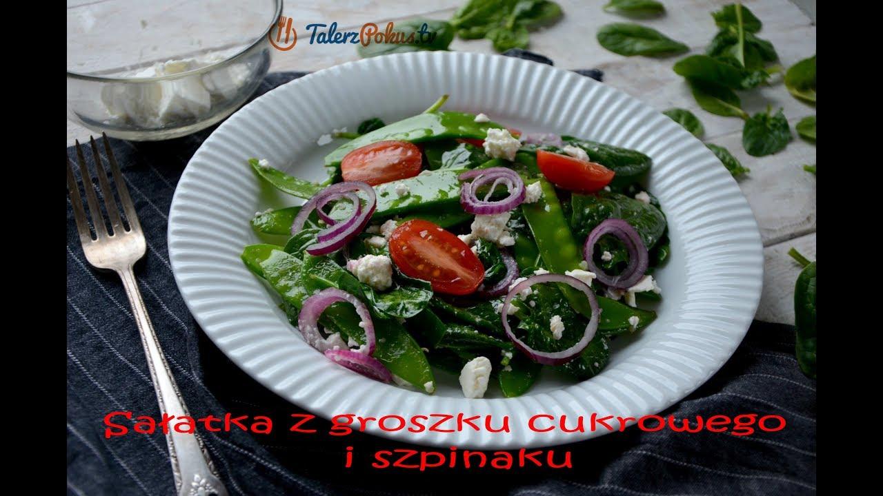 Sałatka z groszku cukrowego i szpinaku – TalerzPokus.tv