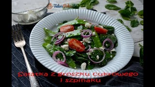 Sałatka z groszku cukrowego i szpinaku - TalerzPokus.tv