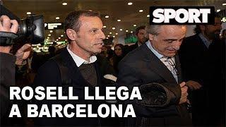 SANDRO ROSELL YA ESTÁ EN BARCELONA | LLEGADA DEL EXPRESIDENTE DEL FC BARCELONA