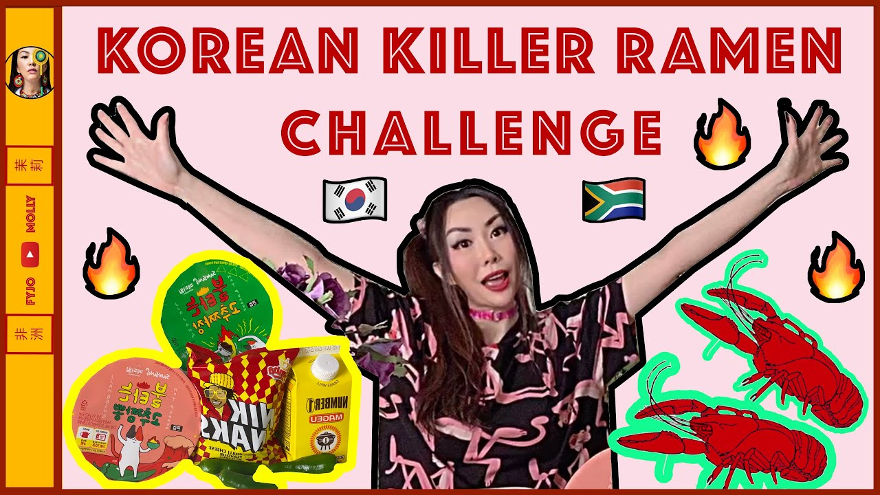 ⭕️🇰🇷Testing Korean Spicy Killer Ramen & Crayfish in 🇿🇦South Africa (Magau Plus Niknacks)
