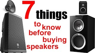 [Hindi]7 things to know before buying speakers ● How to buy best speakers