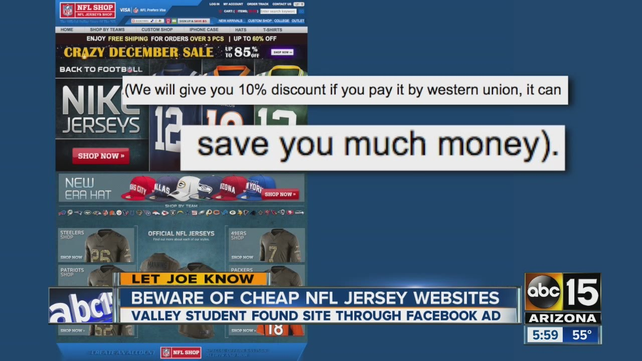 57fd2d2c3 Beware of cheap NFL jersey websites - YouTube