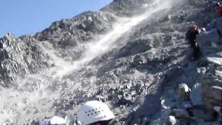 Mont Blanc / Le Grand Couloir Rock Fall